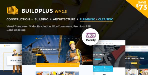 Construction WordPress Theme | Construction WP Build Plus (Construction, Cleaning, Plumbing)