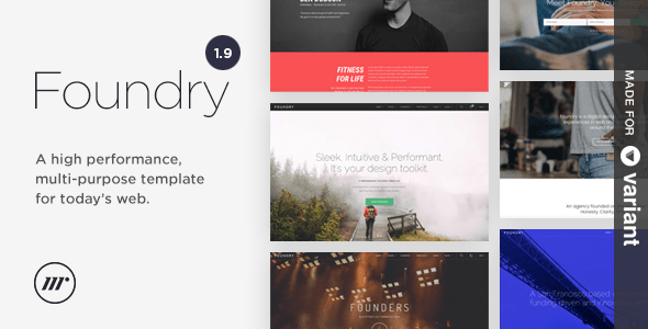 Foundry Multipurpose HTML + Variant Page Builder