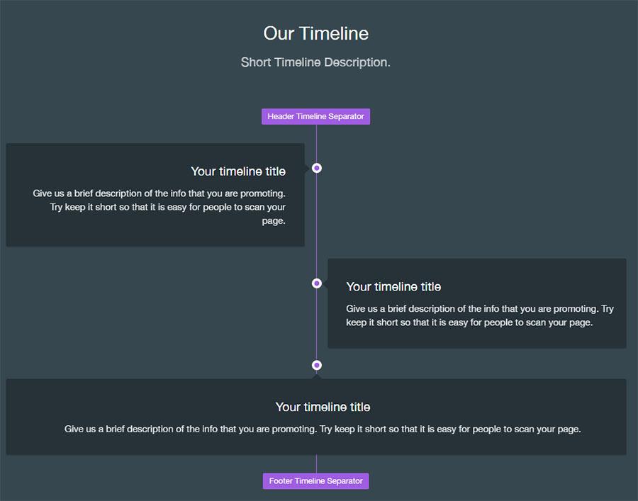 Visual Composer - Materialize Timeline 1