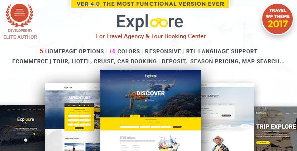 Tour Booking Travel WordPress Theme   EXPLOORE Travel