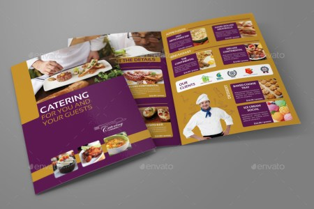 Catering Bi Fold Brochure Template by OWPictures   GraphicRiver Catering Bi Fold Brochure Template