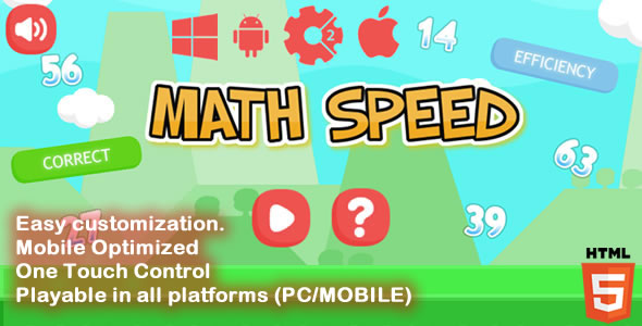 Math Speed - HTML5 Game (Capx) - CodeCanyon Item for Sale