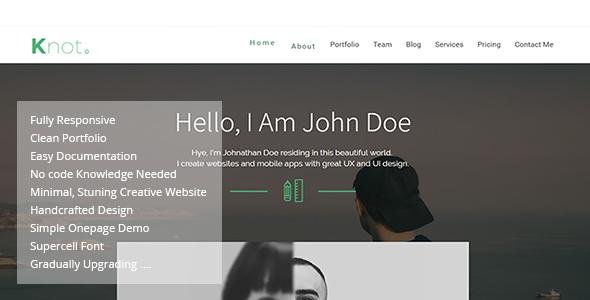 Knot  Responsive Resume Cv Portfolio Template  Website Templates