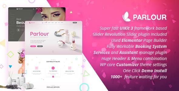 Parlor - Dedicated Beauty Salon WordPress Theme - Health and Beauty Retail