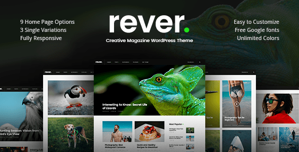 preview.  large preview - Rever - Clean and Simple WordPress Theme