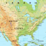 North America Physical Map By Cartarium Graphicriver