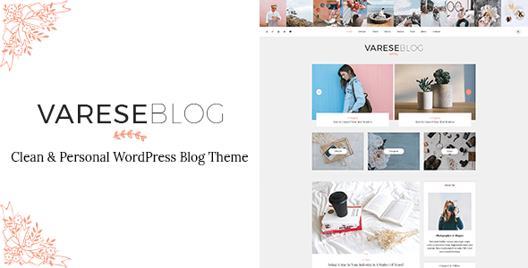Preview.  large preview - Varese - Clean & Personal WordPress Blog Theme