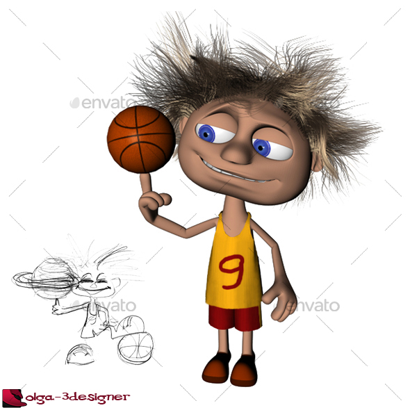 how to draw a basketball player cartoon