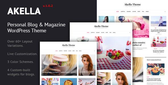 image preview.  large preview - Akella - Personal Blog & Magazine WordPress Theme
