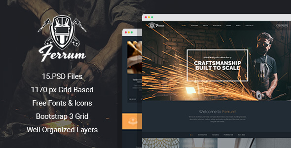 Ferrum - Welding And Metal Works PSD Template by mwtemplates ...
