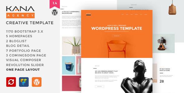 Kana - Creative Agency WordPress Theme