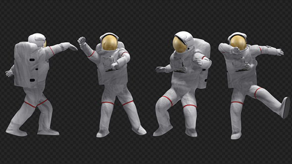 Dancing Astronaut 4Pack by se5d VideoHive