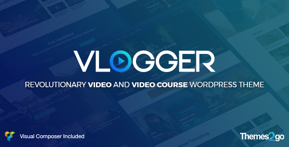 01 preview1.  large preview - Vlogger: Professional Video & Tutorials WordPress Theme