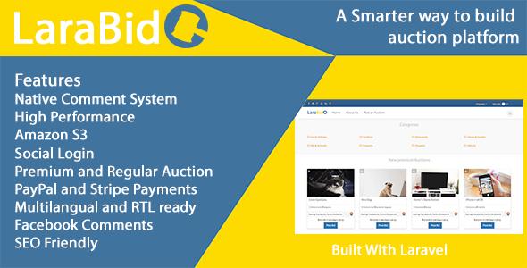 LaraBid - A Laravel PHP Auction Platform