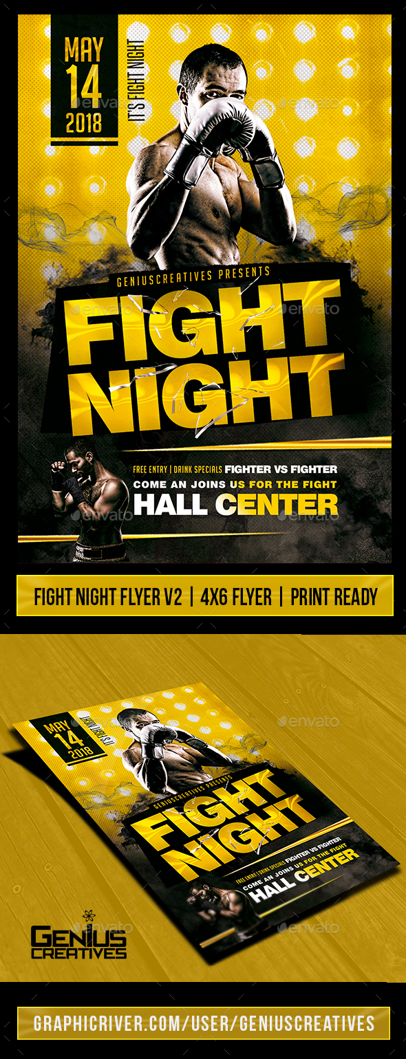 Free Boxing Flyer Templates Save Template