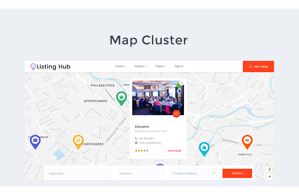 Listing hub directory listings html template get knows listing hub is the best business directory listings template build on boostrap 37 with more features and developer friendly this directory listing html accmission Choice Image