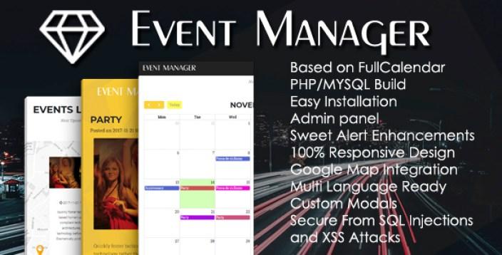 Event Management PHP Script