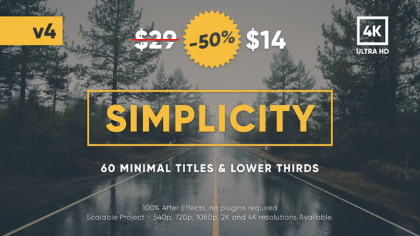 Download Simplicity Title Pack by cooreets | VideoHive