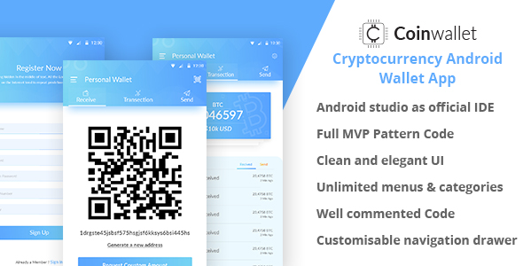 CoinWallet - Android Cryptocurrency Wallet Template