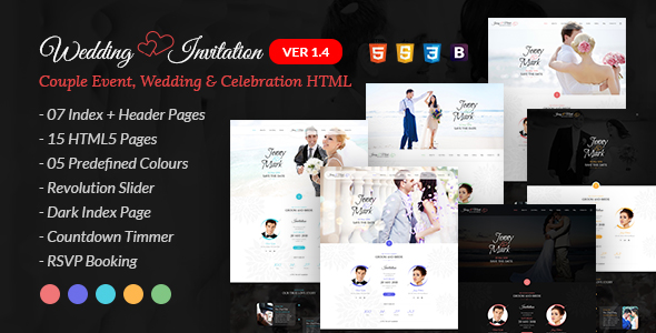 Wedding Invitation - Couple Event and Celebration Joomla Theme - 8