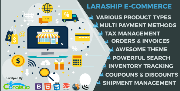 Laraship E-Commerce : Elite Shopping Platform with Amazing Features