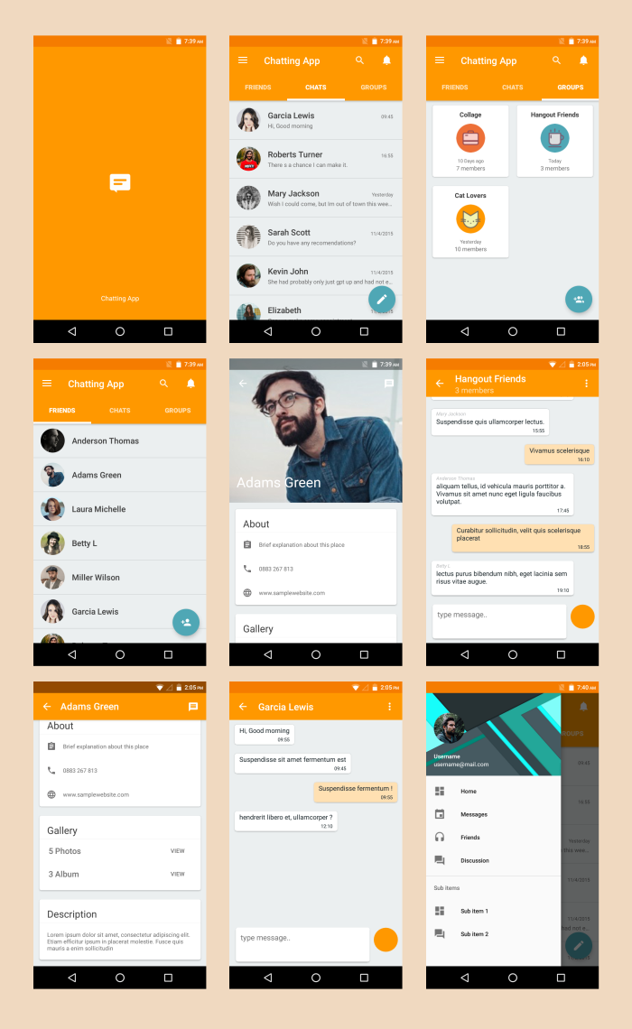 Android Material UI Template 41 By Dreamspace CodeCanyon