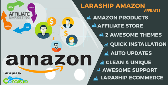 Laraship Amazon Affiliates :  eCommerce Platform with Amazon Products Importer