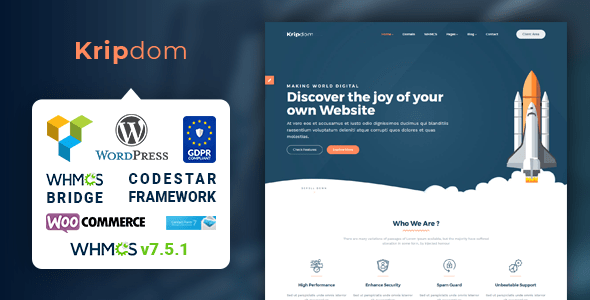 Kripdom - Responsive Web Hosting and WHMCS Themes - TOP WEBINARS