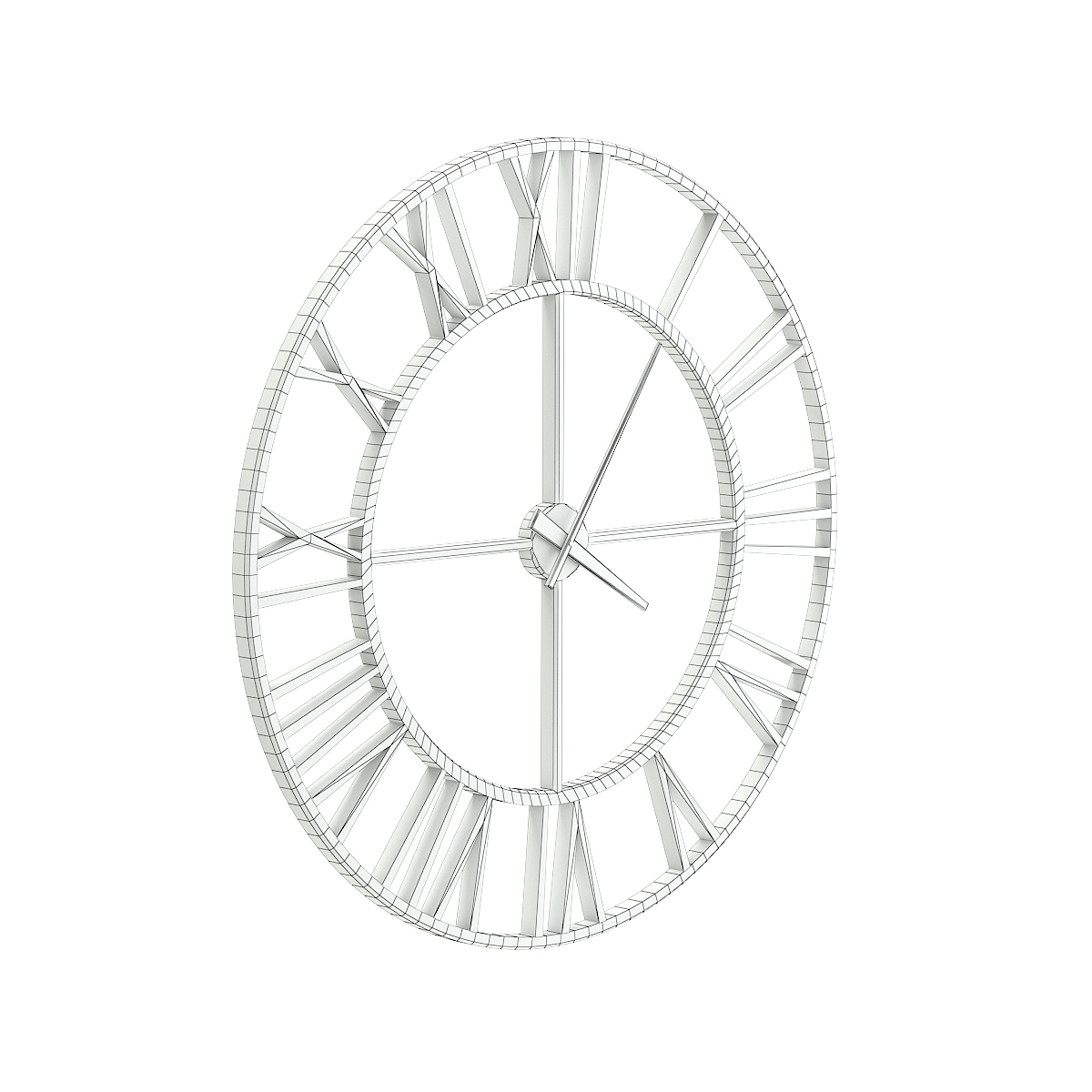 Metal Wall Clock 3d Model By Cgaxis