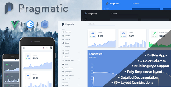 Pragmatic - Vue.js Admin Template