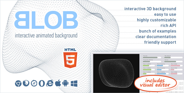 BLOB - Interactive Animated 3D Background - X Theme