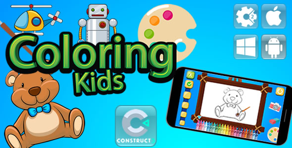 Kids Coloring - Html5 Game (Capx) - Item Code for Sale