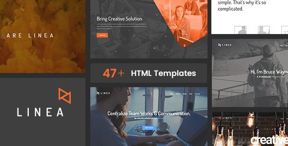 Linea - Creative Agency, Portfolio and Multipurpose Website Template