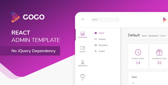 Gogo - React Bootstrap 4 Admin Dashboard - X Theme