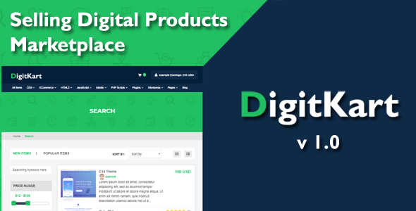DigitKart Multivendor Digital Products Marketplace