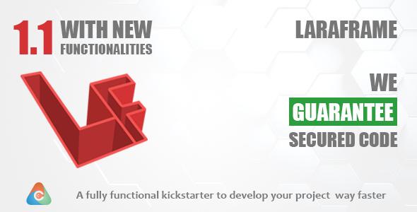 Laraframe - Laravel Kickstarter