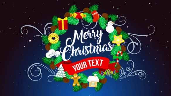 Christmas Wishes With Animated Illustrations After Effects Video