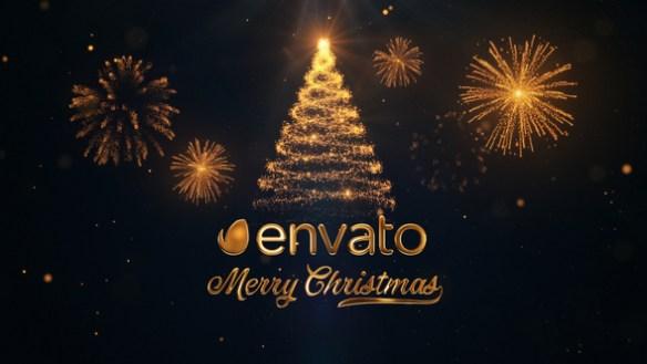 Christmas Logo Reveal - Sparkling Christmas Tree