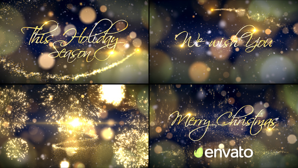 Beautiful Sparkly Animated Christmas Video Card