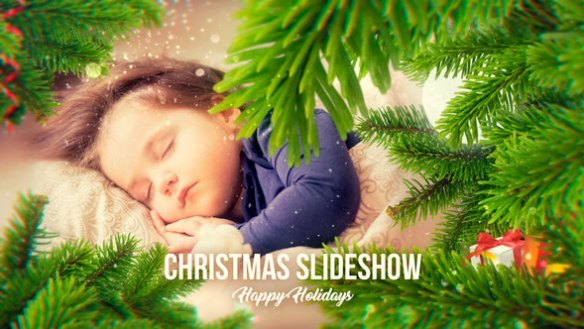 Christmas slideshow with beautiful ferns animation - After Effects Full HD Video