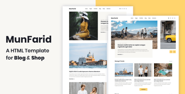 Munfarid - A HTML Template For Blog & Shop by energeticthemes | ThemeForest