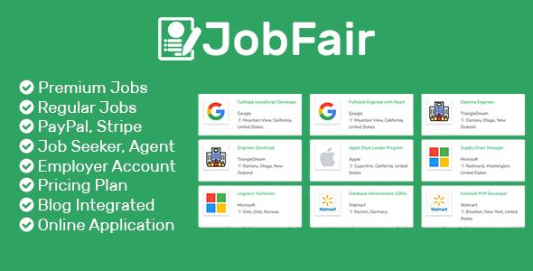 JobFair - Premium Laravel PHP Job Board Script