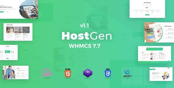 HostGen - Multipurpose Hosting Provider HTML5 Template With
