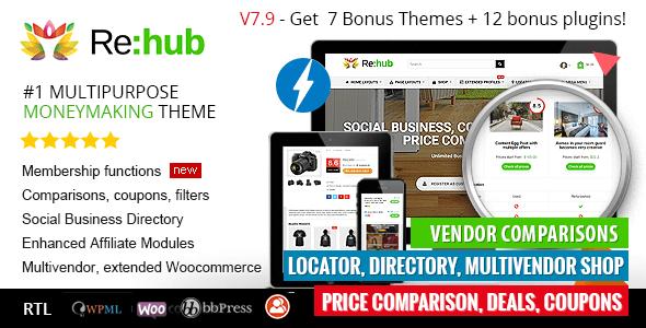 Rehub: comparación de precios, marketing de afiliación, tienda de varios proveedores, tema de la comunidad