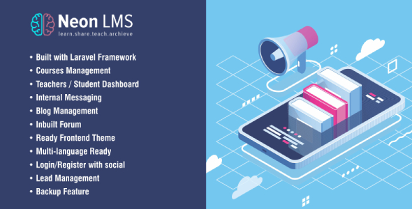 NeonLMS - Learning Management System PHP Laravel Script
