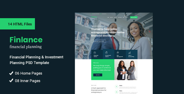 Finding one may seem overwhelming. Finlance Financial Planning And Investment Html Template By Kreativdev