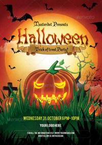 halloween event poster psd
