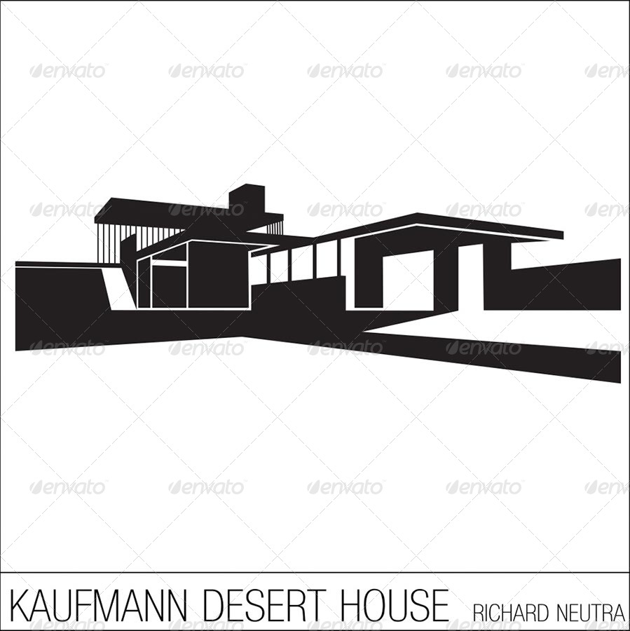 Silhouettes Of Iconic Modern Houses By Es Gi Tau