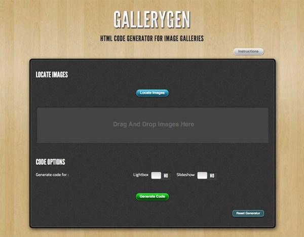 GalleryGen - Image Gallery HTML Code Generator by ...