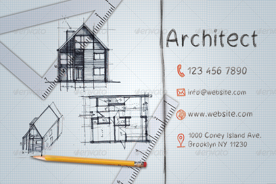 Architect Business Card By HrMark GraphicRiver